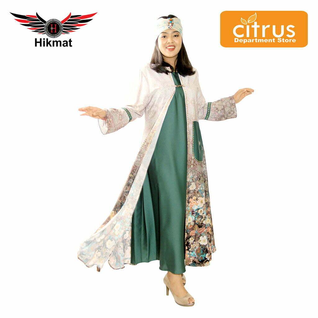 Hikmat A3399 Abaya Wanita Warna Hitam Citrus Department Store